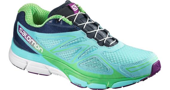 Salomon X-Scream 3D Trailrunning Shoes Women bubble blue/blue depth/tonic green